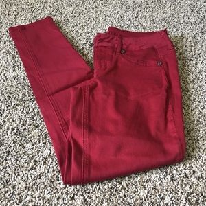 Maurice's red skinny jeans. Size XS short.